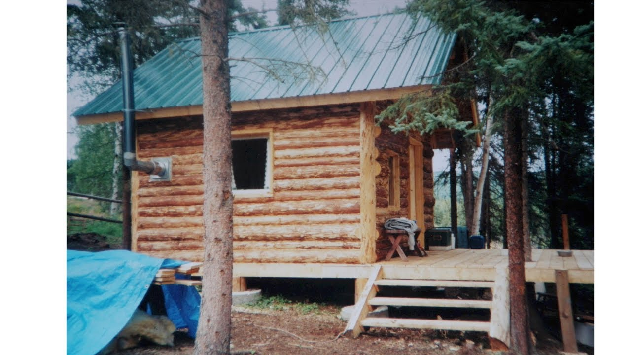 Alaska log cabin start to finish youtube for Alaska cottage