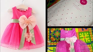Dress for baby girl#Hopscotch#Beautiful frock#Online shopping# Review#Fushcia pink bow stud dress