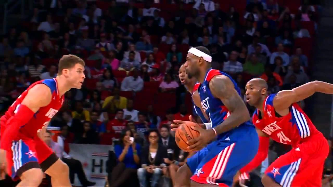 Kobe embarrasses lebron james 2013 all star game youtube voltagebd Choice Image