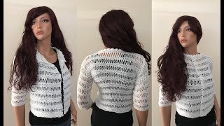 How to Knit Bolero Jacket Pattern #629│by ThePatternFamily