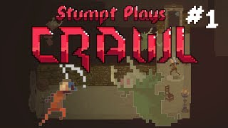 Stumpt Plays - Crawl - #1 - Ghosts, Gnomes, and Bear Traps! (4 Player Gameplay) (Old Press Build)