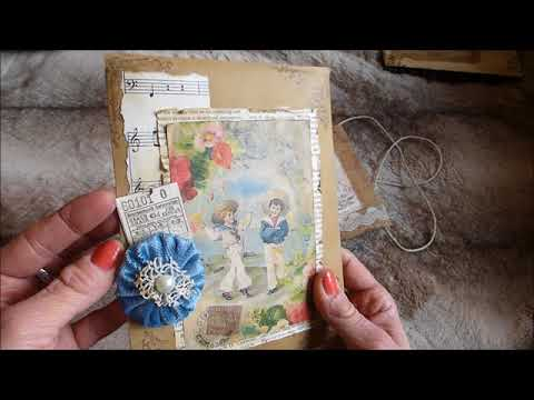 3 x Vintage Junk Journal Tags Pockets Embellishment Kit - Sold - Thank you x