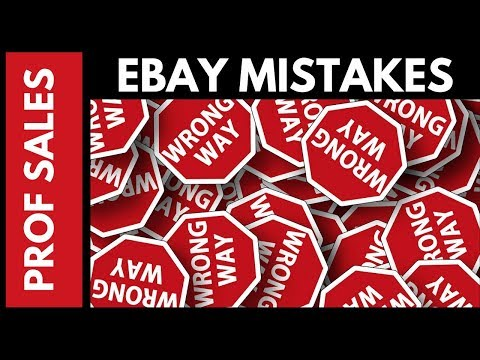 5 Ebay Mistakes I made and How You Can Avoid Them