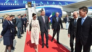 İlham Aliyev and Mehriban Aliyeva are on a visit to İtalian republic