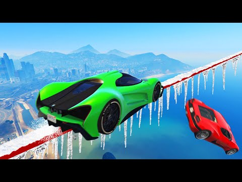 GRIND The Mile High TIGHTROPE To FINISH FIRST! (GTA 5 Funny Moments)