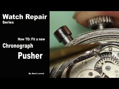 How to fit a new Chronograph Pusher. Watch repair tutorials.