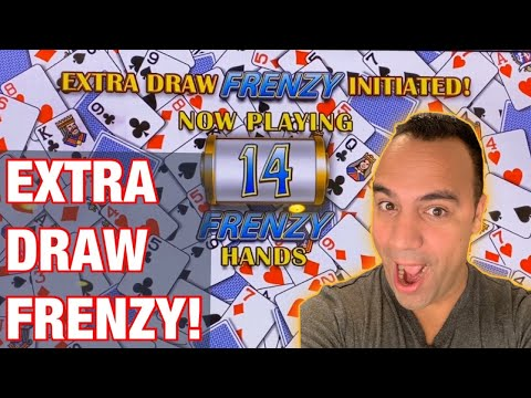 *** BONUS VIDEO *** Extra Draw Frenzy Video Poker Double Double Bonus! ♦️ ♠️ ♥️