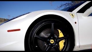 We borrowed a Ferrari 458 Italia!!!