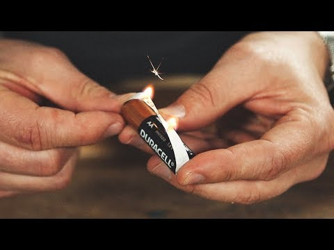 Starting Fires with Batteries