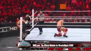 The Miz Vs. WWE Champion CM Punk - WWE RAW 3/12/12