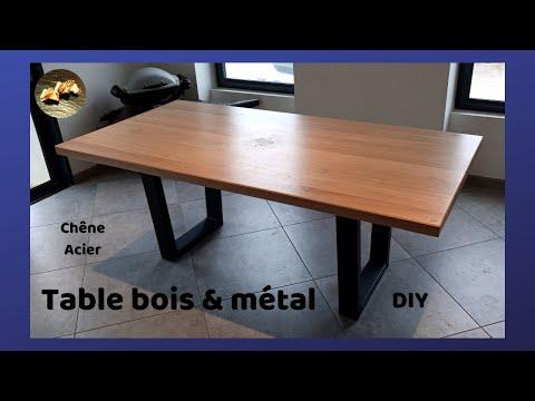 Fabrication table à manger design en bois et métal