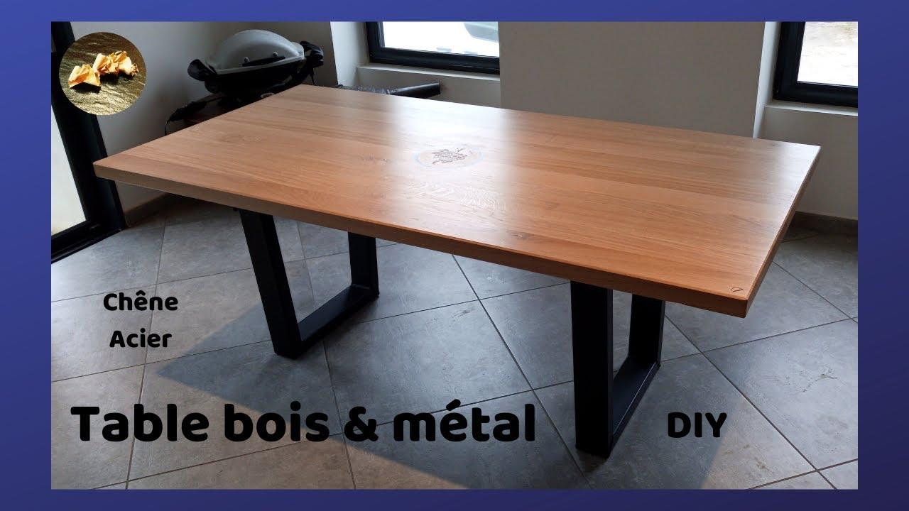 fabrication table a manger design en bois et metal