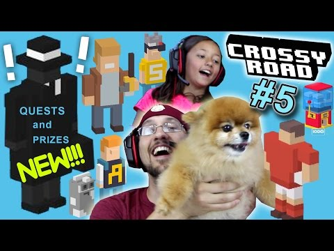 Crossy Road QUESTS & PRIZES! Framed, Bag-It, Michael Boom, Rugby, Jughead & Archie Gameplay (Part 5)