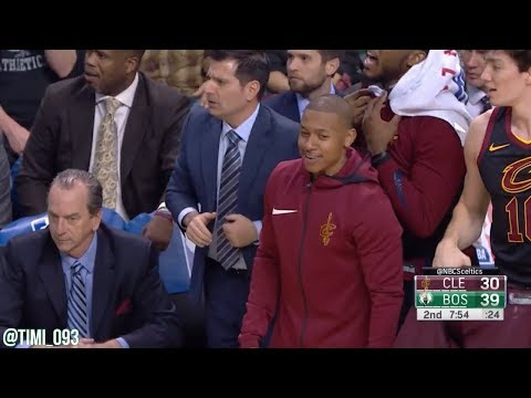 Kyle Korver and Daniel Theis trade 3-pointers in Cavs-Celtics game (01/03/2018)
