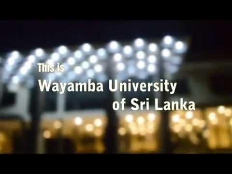 Wayamba University of Sri lanka - This is my University