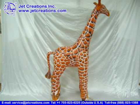 Giraffe Inflatable LARGE By Jet Creations   YouTube