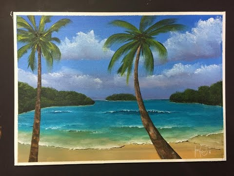 """#157. How to paint a scenery for beginners """"the fore ground"""" PART 3"""