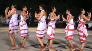 folk dance of west bengal performed in the international folk festival in greece 2011.MPG