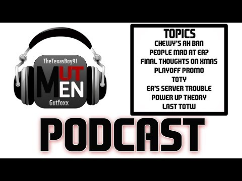 The MUT Men Madden Podcast #93 - Chewbacca Banned for Sniping and Slump from the Muthead Podcast