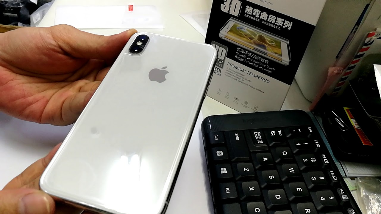 Iphone X Back Side Cover Tempered Glass Screen Protector Youtube