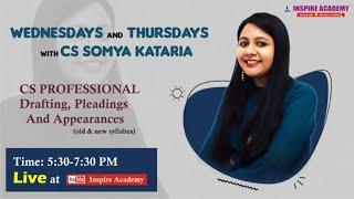 CS PROFESSIONAL DRAFTING REVISON DAY 2 | CS SOMYA KATARIA