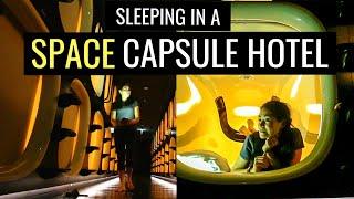 TOKYO CAPSULE HOTEL TOUR  | Space Capsule Hotel Experience