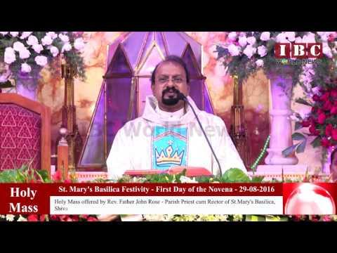 IBC World News_St. Mary's Basilica Festivity 2016 - First Day of the Novena