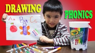 Learning ABC Phonics drawing using color markers full version A-Z