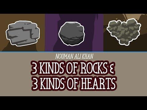 3 Kinds of Rocks & 3 Kinds of Hearts   illustrated   Nouman Ali Khan   Subtitled