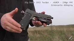 Sig 1911 TacOps - .45ACP - Suppressed