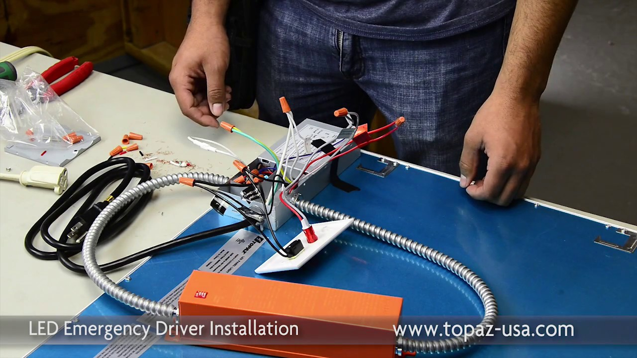 Topaz Led Emergency Driver Installation Youtube Wiring Instructions