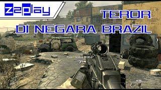 Gameplay~ Ketegangan teror di Brasil | nyoba main game Call of Duty: Modern Warfare 2 - Lv. Veteran