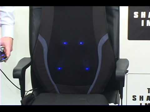 Sharper Image Shiatsu Back Massager Product Overview Youtube