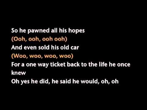 GLADYS KNIGHT Midnight Train to Georgia Lyrics