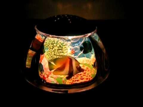 Rotating fish night light youtube for Fish tank night light