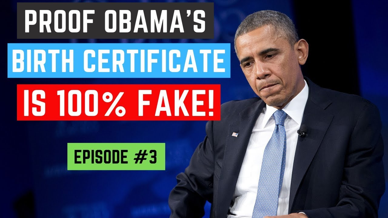 Proof Obama's Birth Certificate is 100% Fake! - Episode 3
