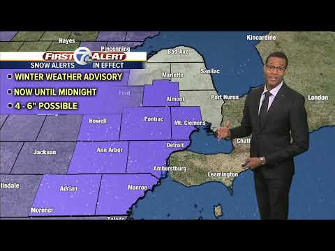 Metro Detroit Forecast: Snow Blanketing Metro Detroit Through The Day