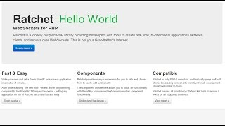 Ratchet Hello World tutorial. Websockets for PHP. Ratchet install sample. Ratchet установка пример