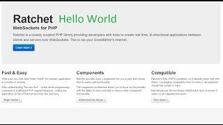 Ratchet Hello World tutorial. Websockets for PHP. Ratchet install sample. Ratchet установка пример