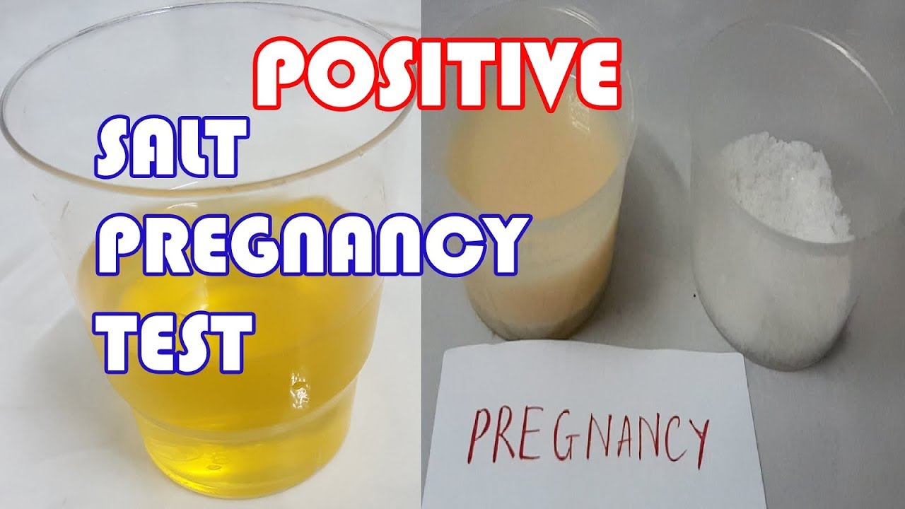 Salt Pregnancy Test Positive Result How To Do Home Pregnancy