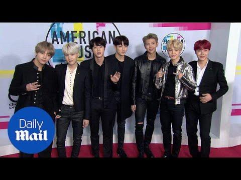Korean Boy Band BTS Take Over At 2017 American Music Awards - Daily Mail