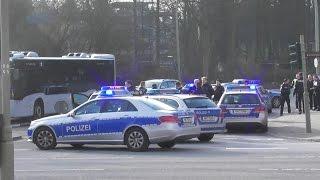 [Gegenverkehr, Umkehren,...] 8x FuStW Polizei Hamburg im Einsatz [Suche + Festnahme]