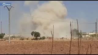 استهداف رتل تركي من قبل طيران أسد كان متجهاً إلى النقطة التركية جنوب إدلب