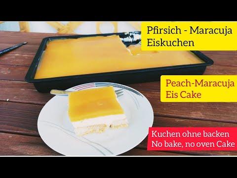 Fruchtiger, Erfrischend Pfirsich-Maracuja Kuchen/Kuchen Ohne Backen (PeachMaracuja Cake /No Bake)