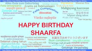Shaarfa   Languages Idiomas - Happy Birthday