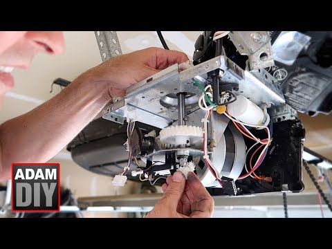 How To Change The Gear And Sprocket In A Garage Door Opener - LiftMaster Chamberlain