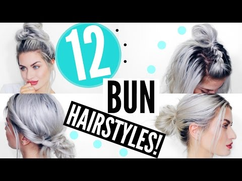 12 HEATLESS BUN HAIRSTYLES –  QUICK & EASY | LYSSRYANN