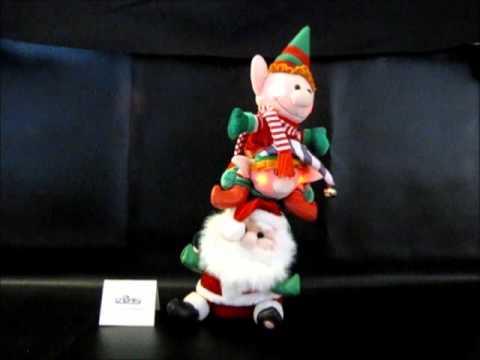 Singing Santa & Elves Animated Plush Decoration