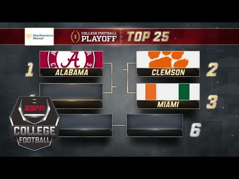 Alabama takes No. 1 spot in ne college football playoff rankings