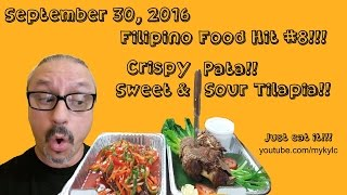 Filipino Food Hit #8.  Crispy Pata and Sweet and Sour Tilapia!!